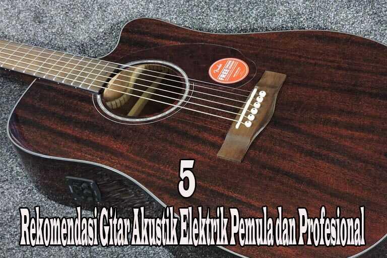 5 Rekomendasi Gitar Akustik Elektrik Pemula dan Profesional